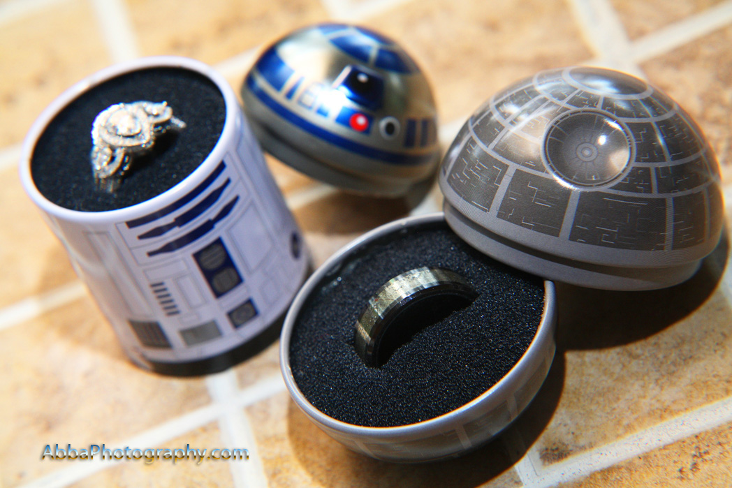 R2D2 Death Star wedding ring box The Secret Garden