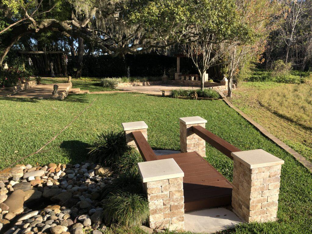 Outdoor garden ceremony in Orlando Florida